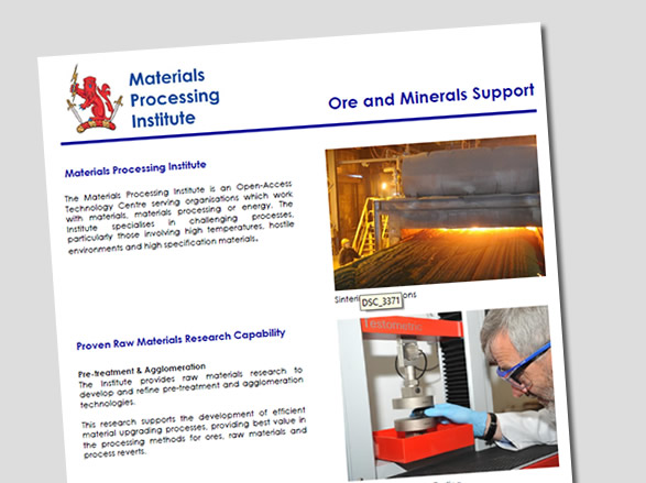 Ore and Minerals Support leaflet