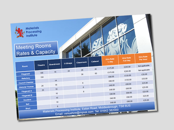 Download Room Hire Rates PDF