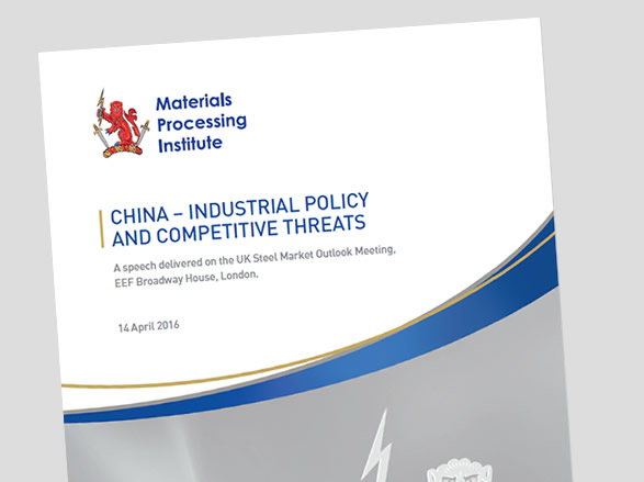 China - Industrial Policy and Competitive Threats - 14 April 2016