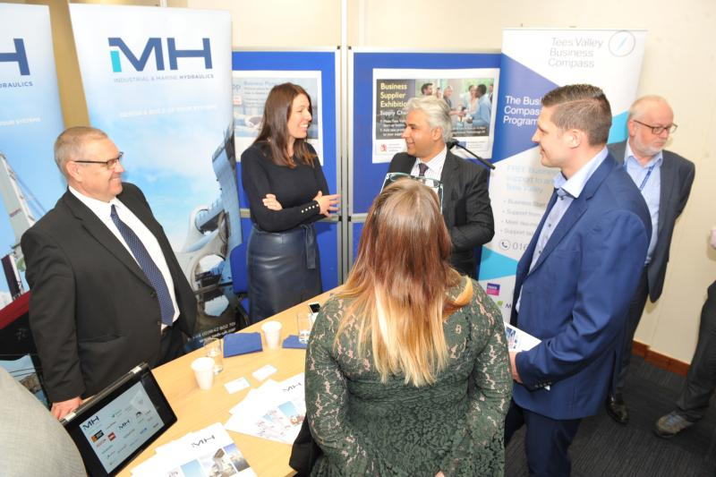 Delegates at the Business Supplier Exhibition, hosted by the Materials Processing Institute