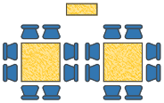 Cabaret layout capacity of 24 available