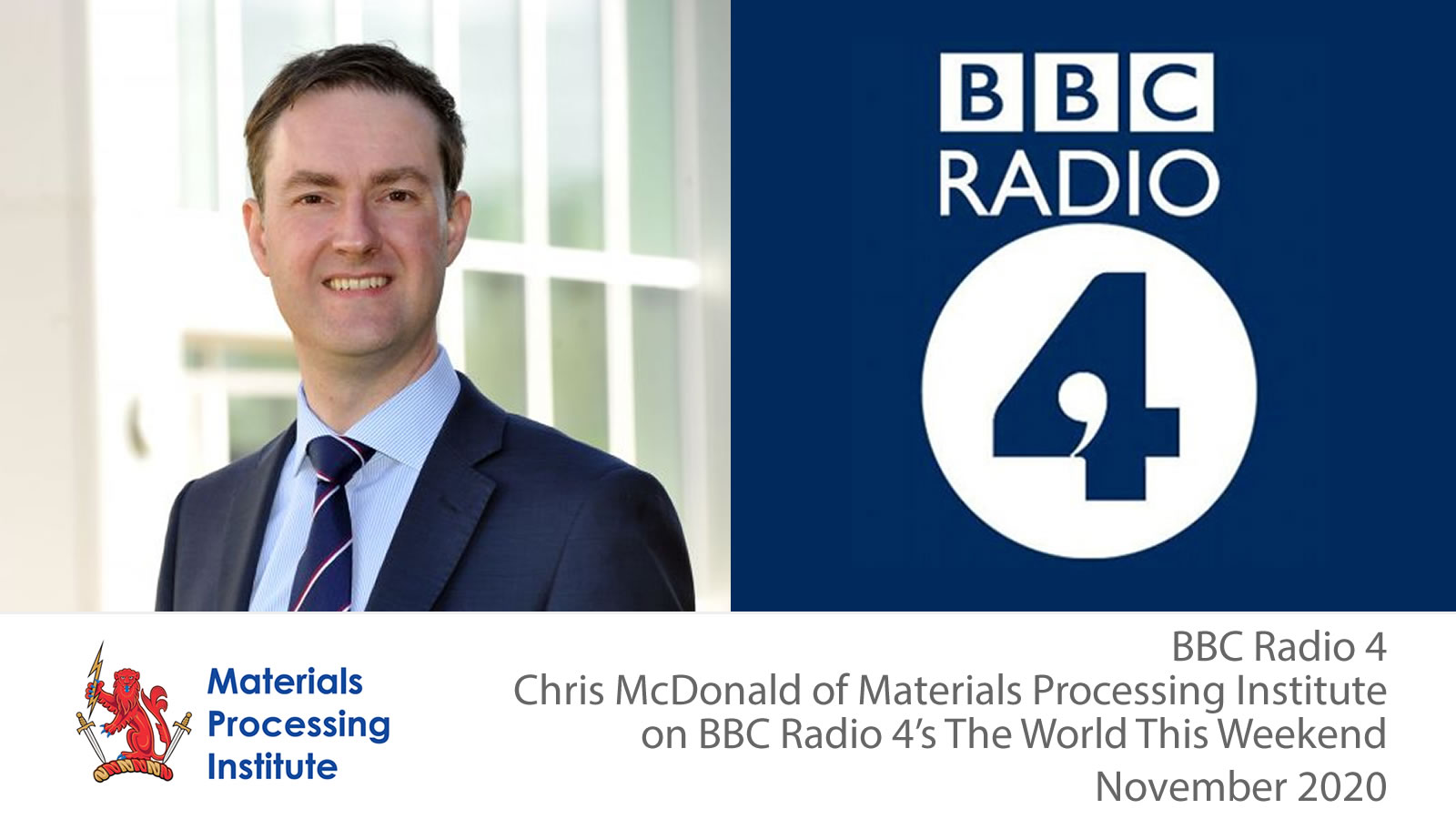 Chris McDonald of Materials Processing Institute on the Futre of Teesside - November 2020