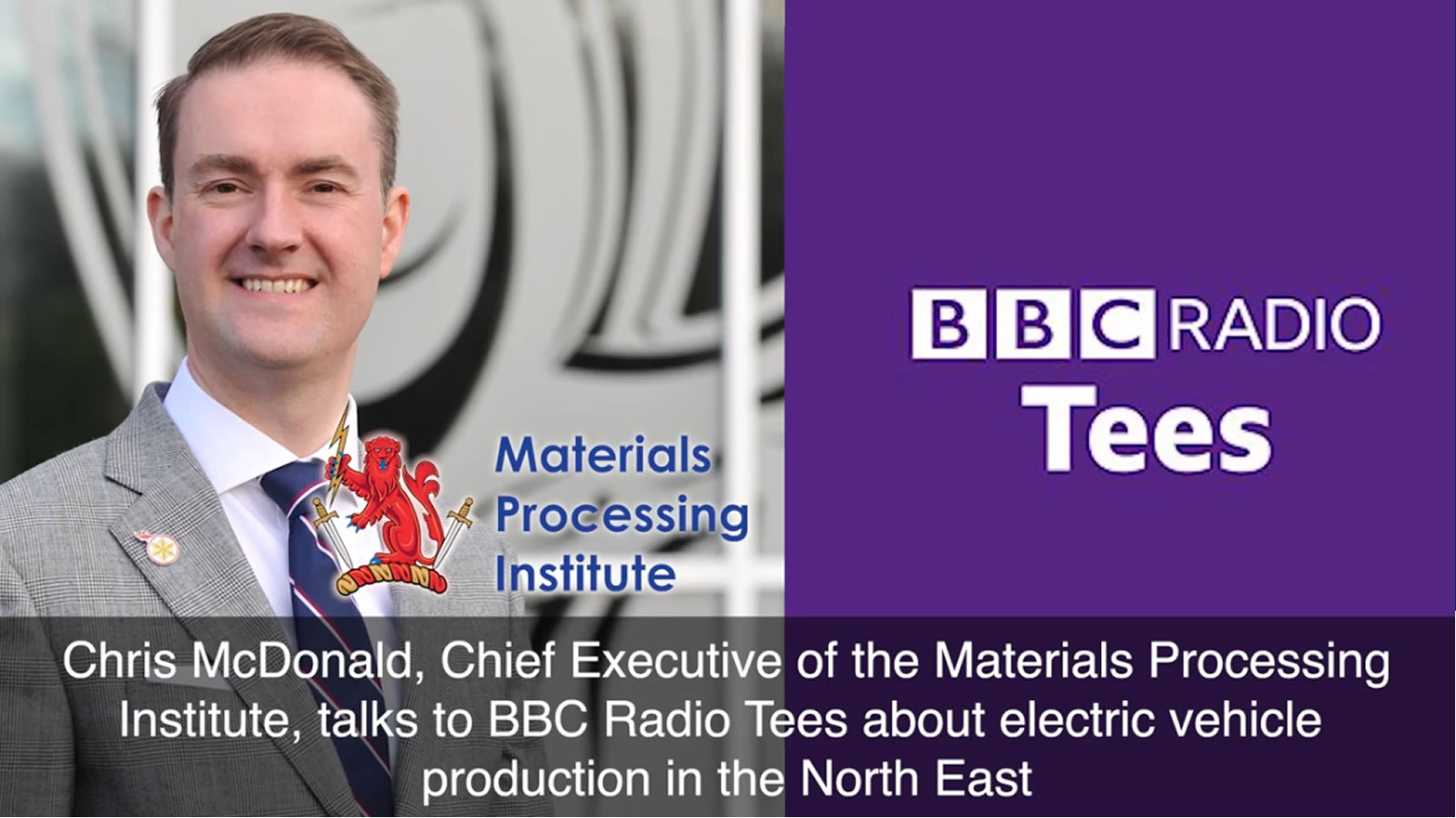 Chris McDonald talks to BBC Radio Tees about electric vehicle production in the North East - January 2021