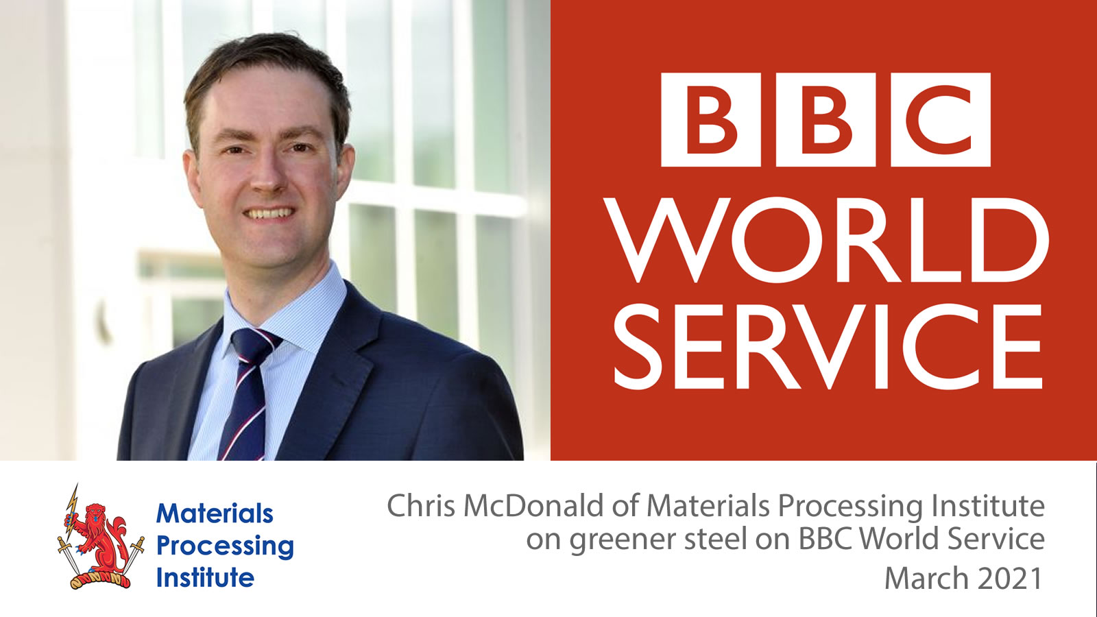 Chris McDonald discusses greener steel on BBC World Service - March 2021